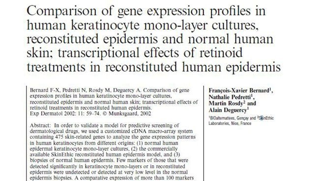 Gene expression profiles