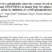 Lipolytic effect of a polyphenolic citrus dry extract