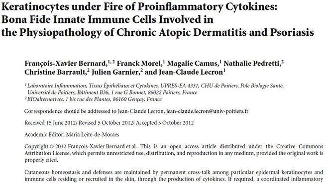 Keratinocytes under fire
